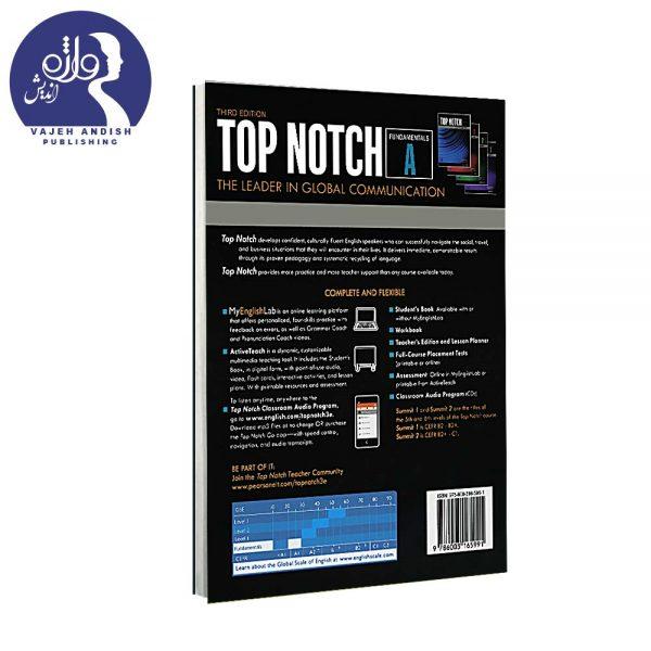 پشت جلدکتاب زبان Top Notch Fundamentals A ویرایش سوم