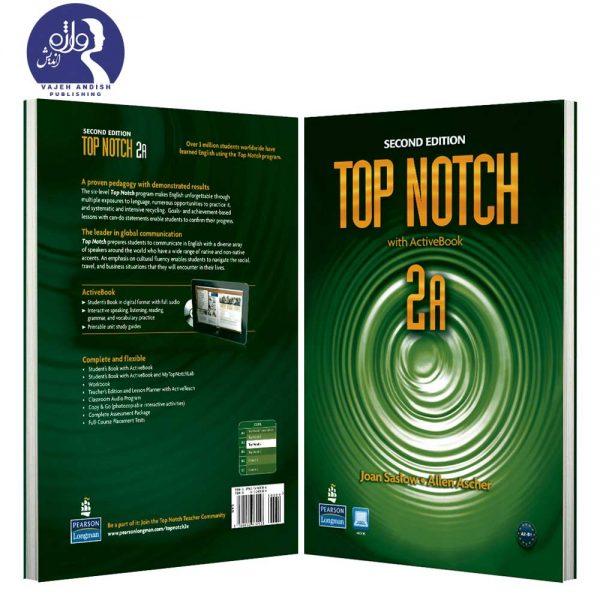 پشت و روی جلد کتاب زبان Top Notch 2A ویرایش دوم