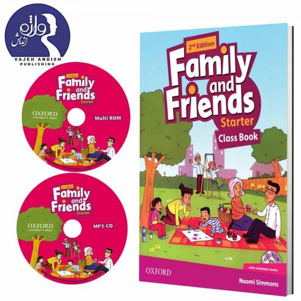 کتاب زبان و سی دی های کتاب زبان Family and Friends Starter